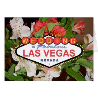 De Kaart van het Huwelijk van Las Vegas van de