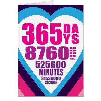 De Kaart van het Jubileum - 365 Dagen - 1 Liefde