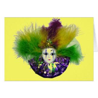 De Kaart van het Masker van Gras van Mardi