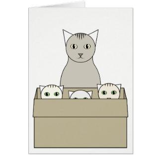 De Kaart van het Moederdag kat-Themed