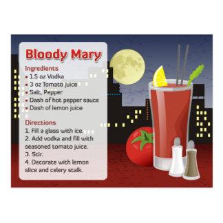 De Kaart van het Recept van de bloody mary