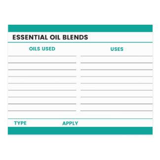 De Kaart van het Recept van de essentiële Olie -