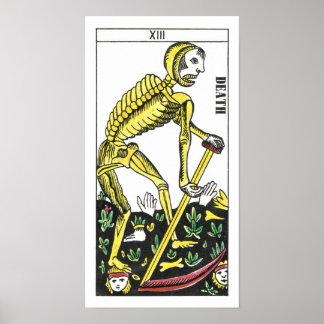 De Kaart van het Tarot van de dood Poster