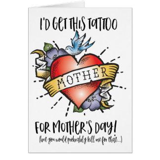 De Kaart van het Tattoo van het moederdag