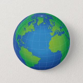 De Kaart van het Wereldbol van de wereld Ronde Button 5,7 Cm