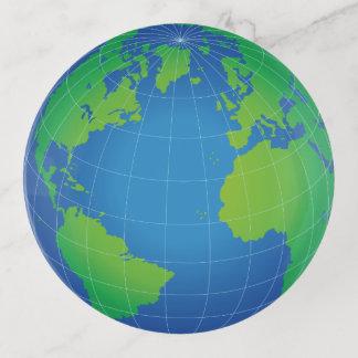 De Kaart van het Wereldbol van de wereld Sierschaaltjes