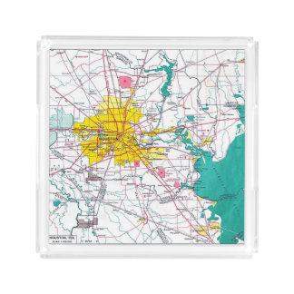 De Kaart van Houston Acryl Dienblad