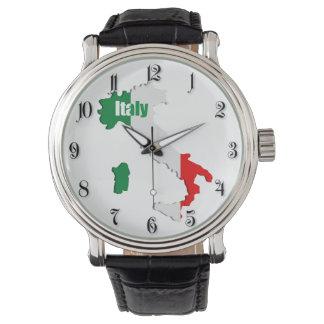 De kaart van Italië Horloge