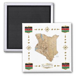 De Kaart van Kenia + De Magneet van vlaggen