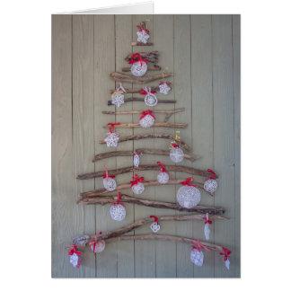 De kaart van Kerstmis, boom