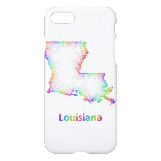 De kaart van Louisiane van de regenboog iPhone 7 Hoesje