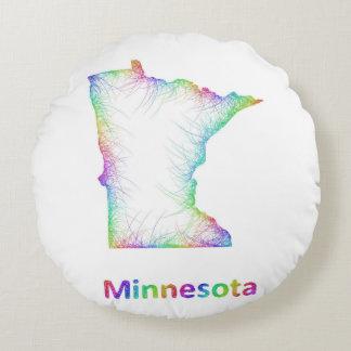 De kaart van Minnesota van de regenboog Rond Kussen