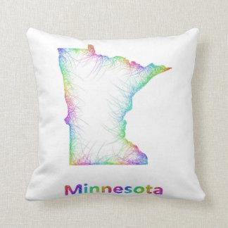 De kaart van Minnesota van de regenboog Sierkussen