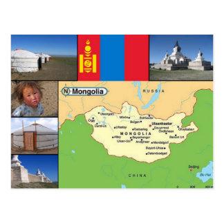 De kaart van Mongolië Briefkaart