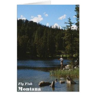 De Kaart van Montana van de Vissen van de vlieg