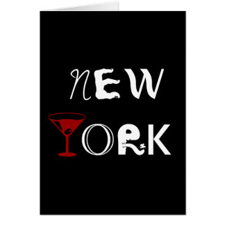 De Kaart van New York Martini
