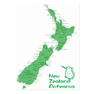 De Kaart van Nieuw Zeeland Briefkaart