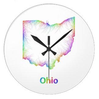 De kaart van Ohio van de regenboog Ronde Klok Large