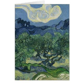 De Kaart van olijfbomen