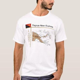De Kaart van Papoea-Nieuw-Guinea + Vlag + De T Shirt