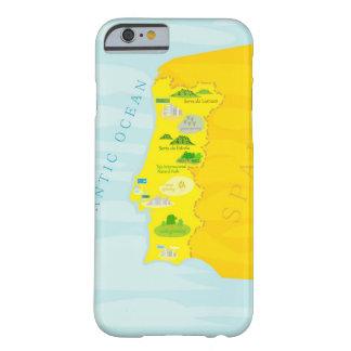 De kaart van Portugal Barely There iPhone 6 Hoesje