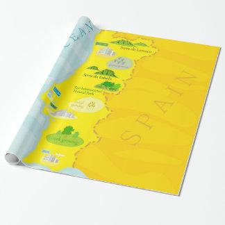 De kaart van Portugal Cadeaupapier