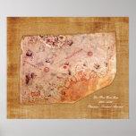 De Kaart van Reis van Piri Poster