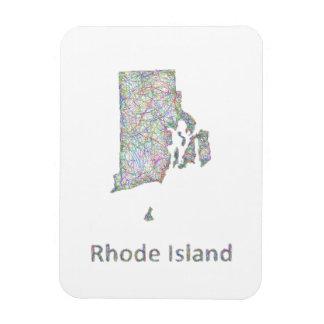 De kaart van Rhode Island Magneet