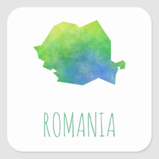 De Kaart van Roemenië Vierkante Sticker