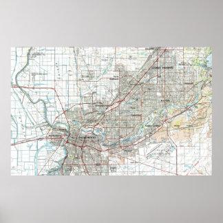 De Kaart van Sacramento Californië (1994) Poster