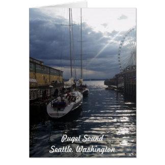 De Kaart van Seattle Washington van de Waterkant