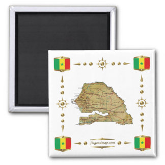 De Kaart van Senegal + De Magneet van vlaggen