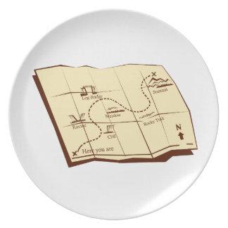 De kaart van Sleep met X merkt de Houtdruk van de Bord