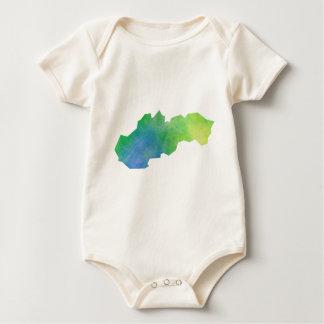 De Kaart van Slowakije Baby Shirt