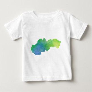 De Kaart van Slowakije Baby T Shirts