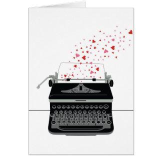 De Kaart van Valentijn - Retro Schrijfmachine