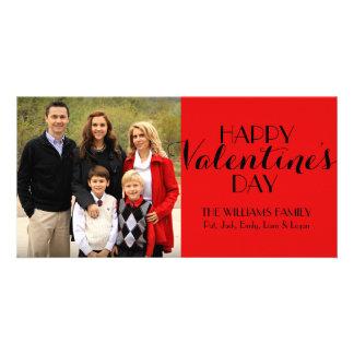 De Kaart van Valentijn van de Foto van de Familie Foto Wenskaarten