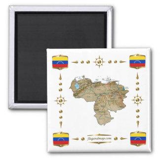 De Kaart van Venezuela + De Magneet van vlaggen