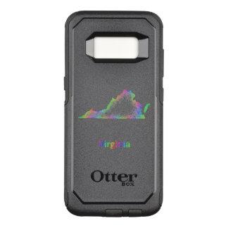 De kaart van Virginia van de regenboog OtterBox Commuter Samsung Galaxy S8 Hoesje