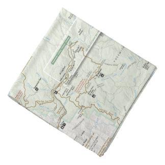 De kaartbandana van Yosemite Bandana
