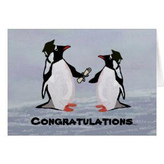 De Kaarten van de Afstuderen van de pinguïn