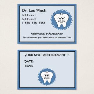 De Kaarten van de Benoeming van de tandarts