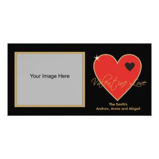 De Kaarten van de Foto van de Liefde van Valentijn Foto Wenskaarten