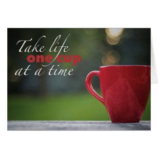 De Kaarten van de Nota van het Leven van de koffie
