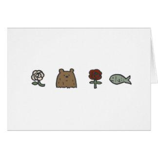 De Kaarten van de Nota van roze-beer-roze-vissen