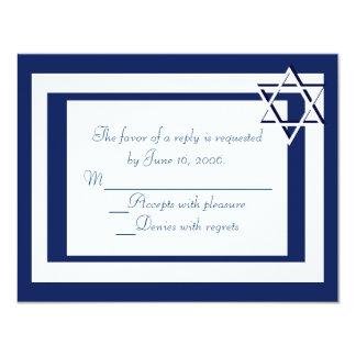 De Kaarten van de Uitnodiging RSVP van Mitzvah van