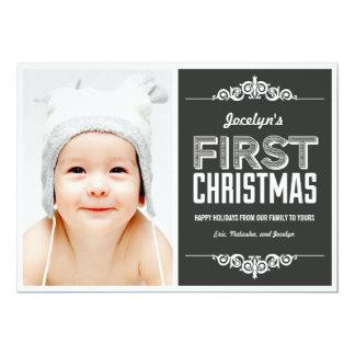 De Kaarten van de Vakantie van Eerste Kerstmis van 12,7x17,8 Uitnodiging Kaart