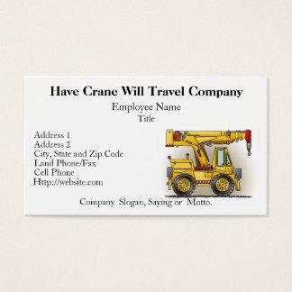 De Kaarten van het Bouwvak van de Vrachtwagen van Visitekaartjes