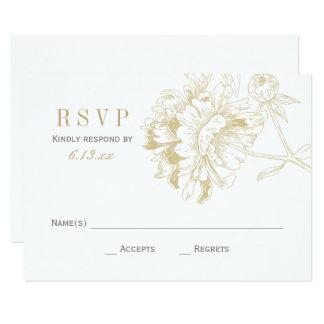 De Kaarten van het huwelijk RSVP | Gouden 8,9x12,7 Uitnodiging Kaart