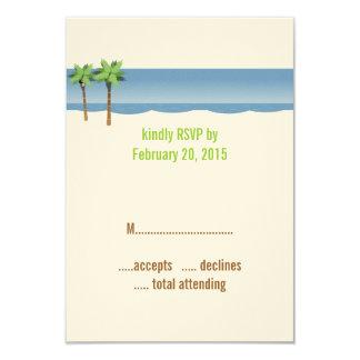 De Kaarten van het Huwelijk RSVP van het Strand 8,9x12,7 Uitnodiging Kaart